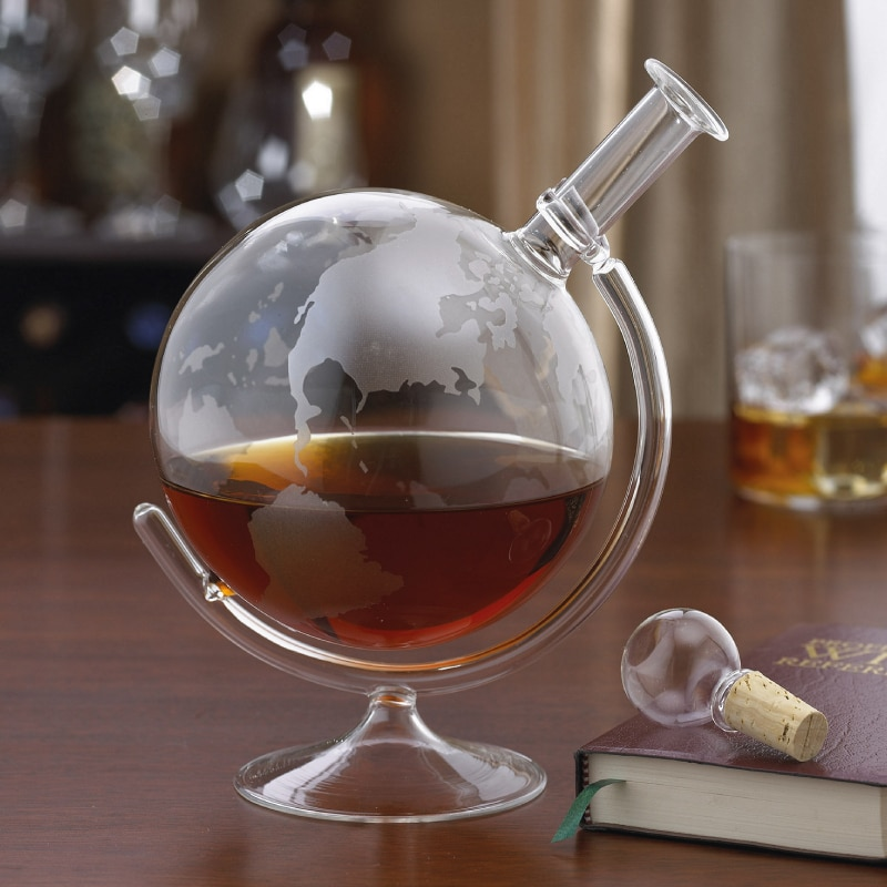 Glass globe whisky decanter wine gift centre for What is wine decanter