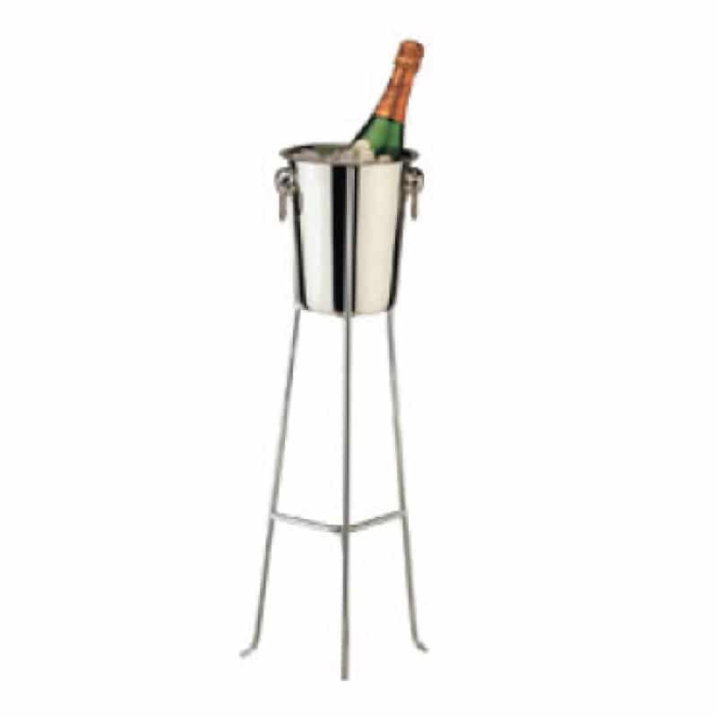 Foldaway Ice Bucket And Stand Wine Gift Centre