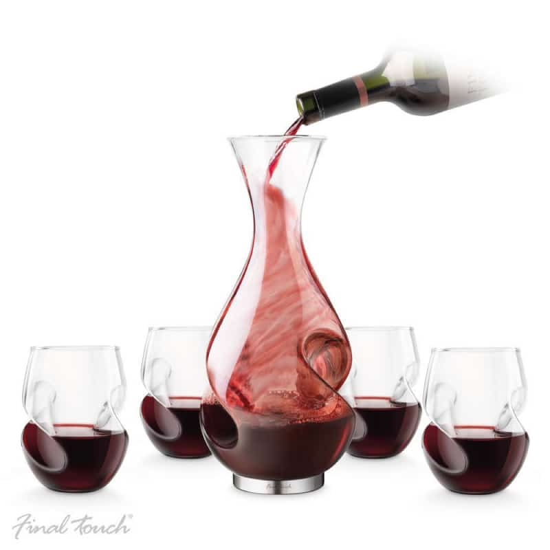 Conundrum red wine decanter set wine gift centre for What is wine decanter