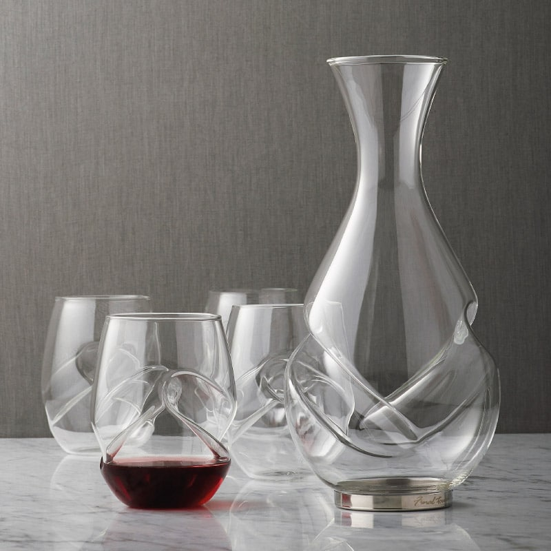 Conundrum red wine decanter set wine gift centre for Wine carafes and decanters