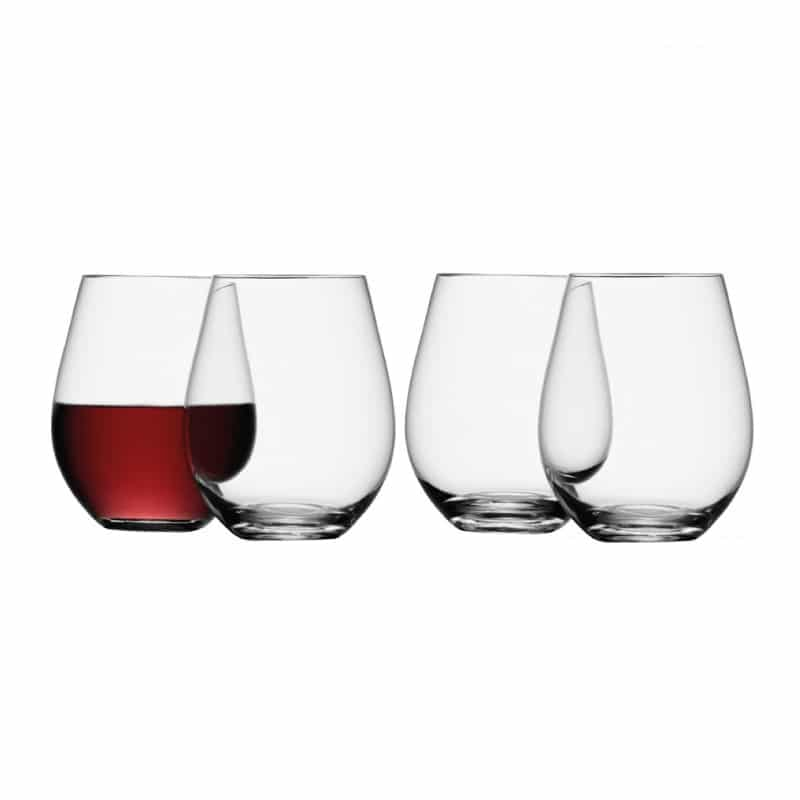 Lsa stemless wine glass wine gift centre - Stemless wine goblets ...