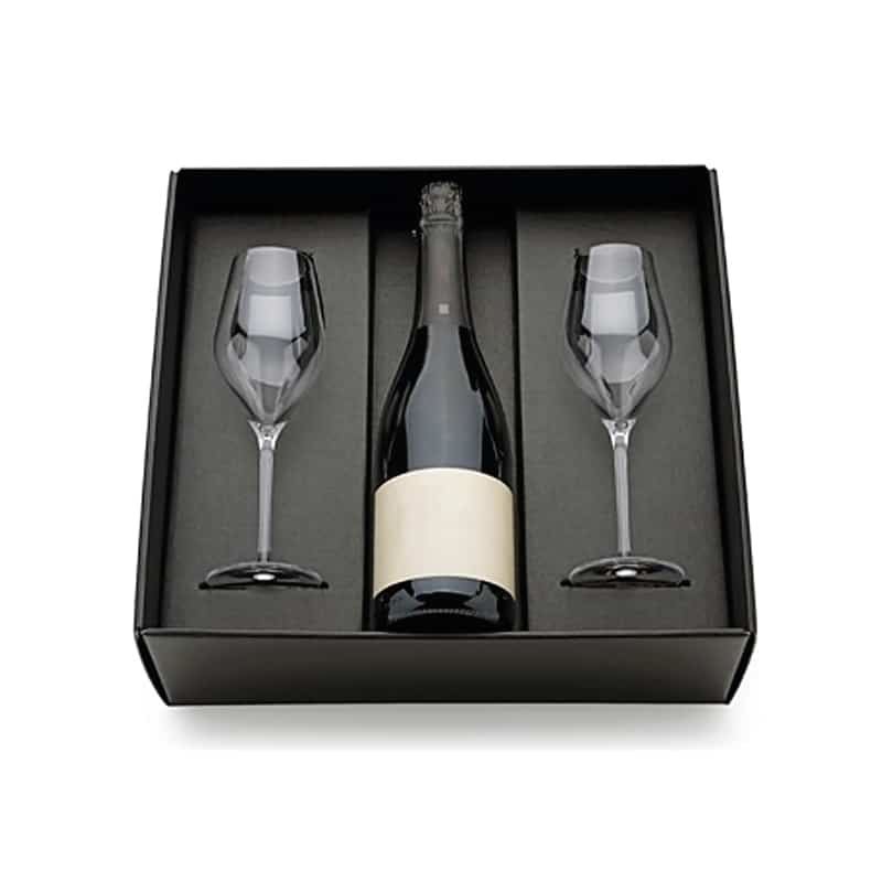 Wine Bottle And Glass Gift Box
